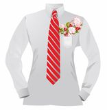 Shirt and flowers Stock Images