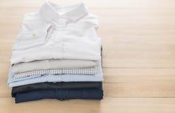 Shirt fold stack Royalty Free Stock Photography
