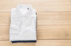 Shirt fold stack Royalty Free Stock Images