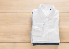 Shirt fold stack Stock Photo