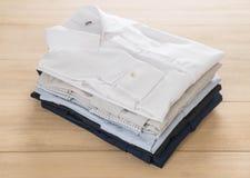 Shirt fold stack Royalty Free Stock Photo