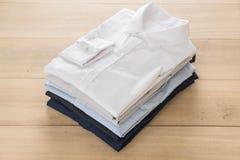 Shirt fold stack Stock Photos