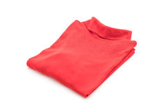 Shirt. folded t-shirt on white Royalty Free Stock Photography