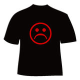 Shirt with frown Royalty Free Stock Image