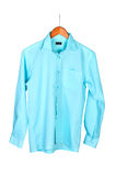 Shirt on hanger. On white background Royalty Free Stock Photo