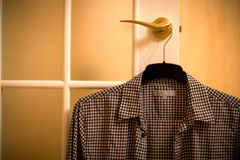 Shirt on hanger Royalty Free Stock Images
