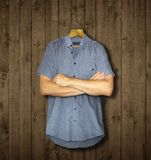 The shirt and arms royalty free stock images