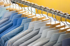 Shirt on hangers stock photography