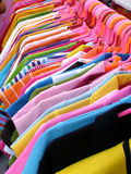 Shirt hanging. Colorful both T-shirts and hangings Royalty Free Stock Photography