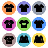 Shirt Icon designs Set 1 Stock Photo