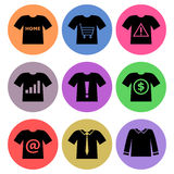 Shirt Icon designs Set 2 Stock Photos
