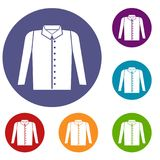 Shirt icons set Stock Images