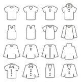 Shirt Icons Thin Line Vector Illustration Set Royalty Free Stock Photography