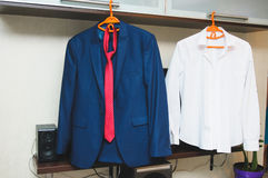 SHirt and Jacket with Tie Stock Photos