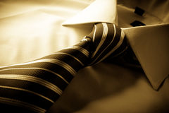Shirt with knotted tie Stock Image