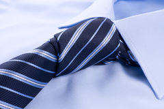 Shirt with knotted tie Royalty Free Stock Image