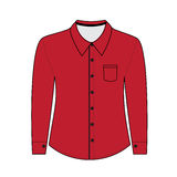 Shirt with long sleeves.  illustration Royalty Free Stock Photos