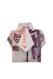 The shirt is made from money. The shirt is made from 500 rubles banknote Royalty Free Stock Photography