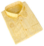 Shirt, man's batik shirt on background. Royalty Free Stock Image