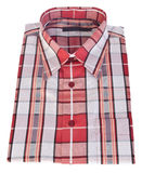 Shirt, man's cotton plaid shirt on background. Royalty Free Stock Photo