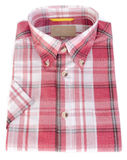 Shirt, man's cotton plaid shirt on background. Stock Photos