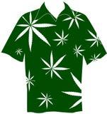 Shirt with marijuana leaves Royalty Free Stock Photo