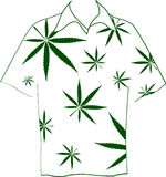 Shirt with marijuana leaves Stock Images