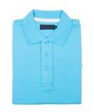 Shirt. mens folded polo shirt on a background Stock Image