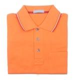 Shirt. mens folded polo shirt on a background Stock Photo