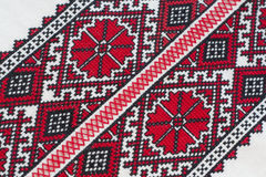 Shirt with national Ukrainian embroidered red and black colors Stock Images