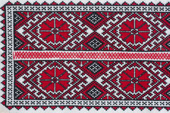Shirt with national Ukrainian embroidered red and black colors Royalty Free Stock Images
