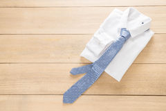 Shirt with necktie. Selective focus point Stock Photography