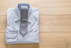 Shirt with necktie. Selective focus point Stock Images