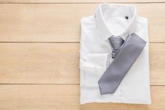 Shirt with necktie. Selective focus point Stock Image