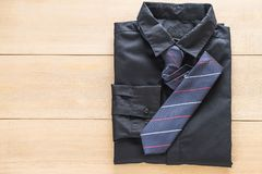 Shirt with necktie. Selective focus point Royalty Free Stock Images