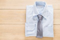 Shirt with necktie. Selective focus point Royalty Free Stock Photography