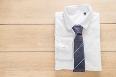 Shirt with necktie. Selective focus point Stock Photo