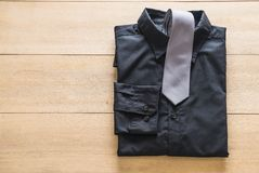 Shirt with necktie. Selective focus point Royalty Free Stock Photos