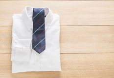 Shirt with necktie. Selective focus point Stock Photos