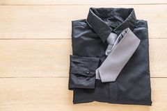 Shirt with necktie. Selective focus point Royalty Free Stock Photo