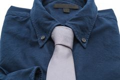 Shirt with necktie. On white background Stock Photos