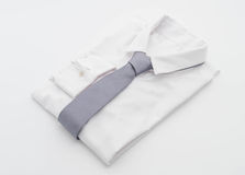 Shirt with necktie. On white background Stock Photos