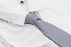 Shirt with necktie. On white background Royalty Free Stock Photo