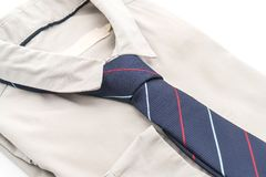 Shirt with necktie. On white background Stock Image