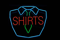 Shirt Neon Sign Stock Photography