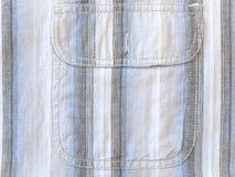Shirt pocket. Photo of Striped shirt pocket background Royalty Free Stock Photography