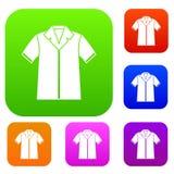 Shirt polo set collection Stock Photos