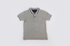 Shirt or polo shirt on white background. Royalty Free Stock Images