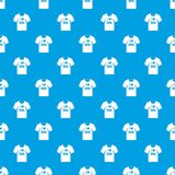 Shirt with print pattern seamless blue Stock Images