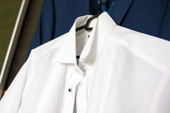 Shirt ready for the wedding. White Royalty Free Stock Image